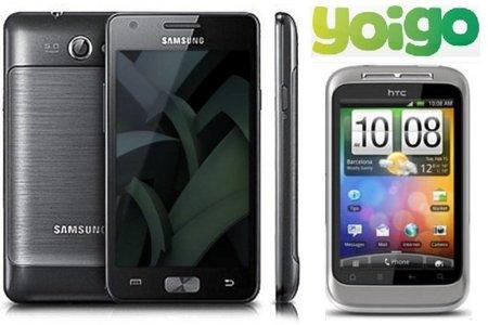 Samsung Galaxy R y HTC Wildfire S con Yoigo en septiembre