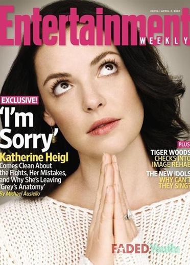 Katherine Heigl clama el perdón en EW
