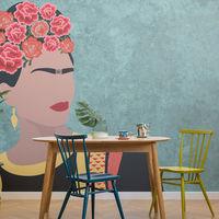 Flores, México y Frida Kahlo: una combinación perfecta para vestir paredes con papel pintado
