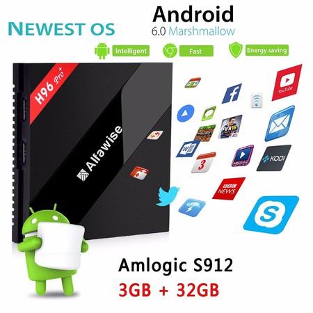 TV Box Android Alfawise H96 Pro+, con 3GB de RAM y 32GB de capacidad, por 58 euros
