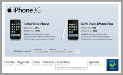Tarifas del contrato del iPhone con Telefónica