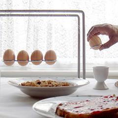 El desayuno de Newton, un idea original para almacenar los huevos