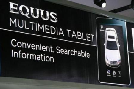 equus de Hyundai, con iPad de serie