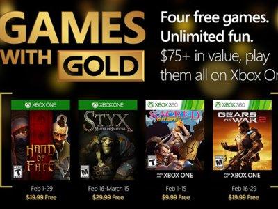 Gears of War 2 lidera los juegos de Games With Gold de febrero