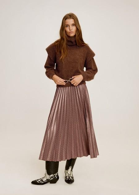 Falda plisada estampada
