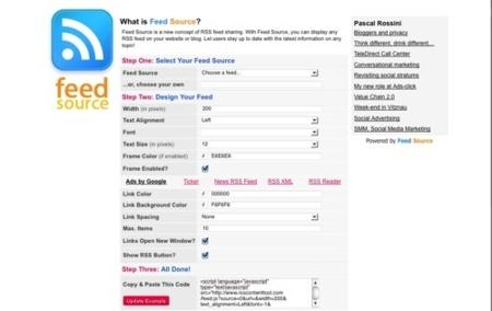 Feed Source, crea un widget con el contenido de cualquier canal rss