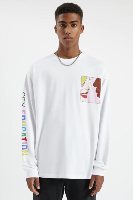 Camiseta Sex Education X Pull Bear Blanca Texto Multicolor
