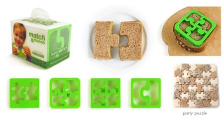 Crea tus sandwiches con forma de puzzle con Match & Munch