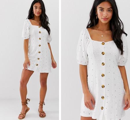 Vestido Blanco Corto Mini