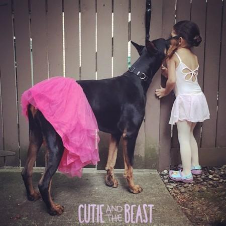 Cutie And The Beast Dog Girl Seana Doberman 42