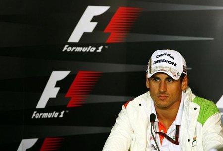 GP de Alemania 2010: Adrian Sutil marca el ritmo en una sesión pasada por agua