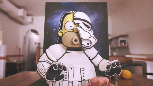 El Homer Simpson más delicioso viene en forma de pastel y con disfraz de Stormtrooper
