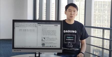 Este monitor de 25,3 pulgadas es único en el mundo: utiliza tinta electrónica