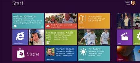 Microsoft revela la nueva interfaz de Windows 8
