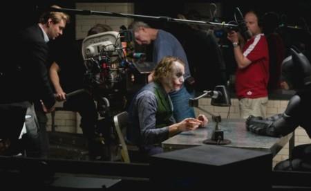Nolan durante la filmación de El Caballero Oscuro