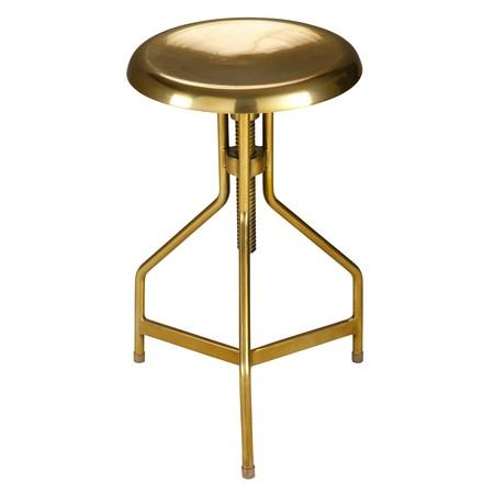 Maisons Du Monde 165459 Taburete Ajustable De Metal Dorado 99 99 Euros