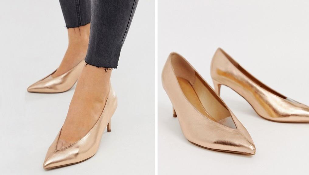 Zapatos de salón con puntera en V