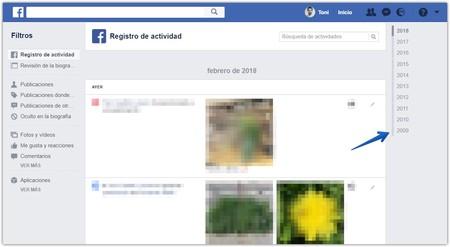 Fecha Cuenta Facebook Registro Actividad