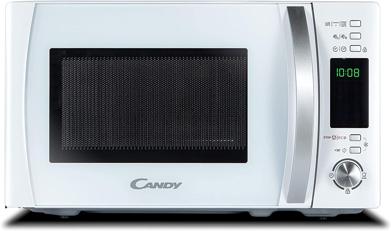 Candy CMXG 20DW Microondas con Grill y Cook In App, 40 Programas Automáticos, 700 W, 20 litros, Blanco [Clase de eficiencia energética A]