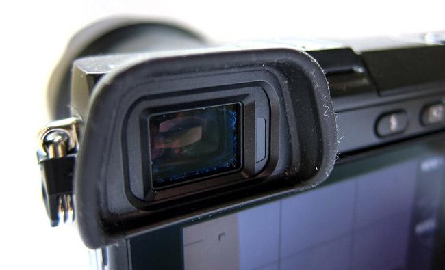 Sony NEX-7 detalle visor