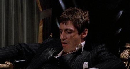 Pacino en el tramo final de El Precio del Poder (Scarface)