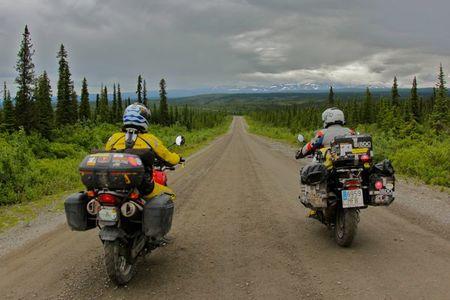 América en Moto. Alaska. Denaly Highway.