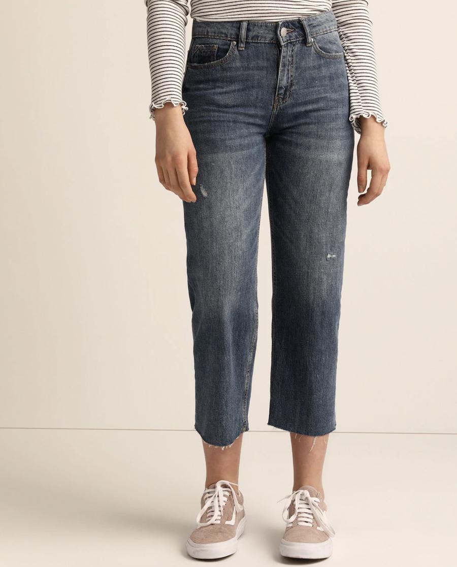 Jersey de mujer de manga larga con escote en pico