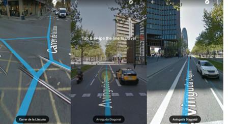 Google Street View cambia el modo de navegación: adiós flechitas, hola linea azul