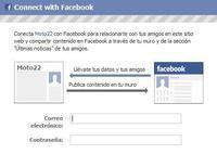 Usa Facebook para conectarte a Moto22