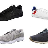 Ofertas en tallas sueltas de zapatillas New Balance, Nike, Puma o Le Coq Sportif por menos de 30 euros en Amazon