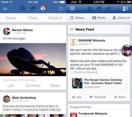 Facebook para iOS 7
