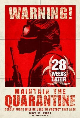 Teaser poster de '28 Weeks Later'
