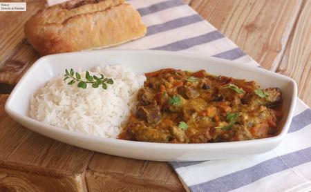 Tacos de lomo bajo al curry amarillo, receta facilísima de inspiración oriental
