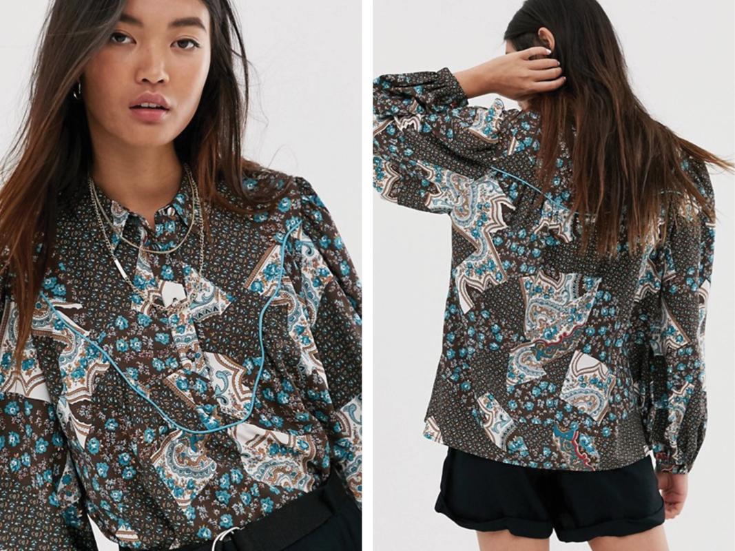 Camisa estilo oeste con diseño Paisley de Only