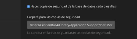 Copia de seguridad en Plex