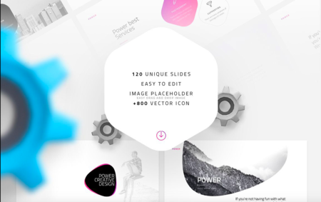 Power Free Minimal Powerpoint Template On Behance 2018 08 20 13 18 18