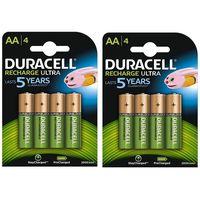 Pack de 8 pilas recargables Duracell, de 2.500mAh, por 17,38 euros y envío gratis