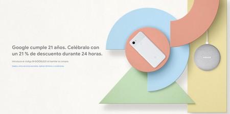 Día Sin IVA en Google: 21% de descuento, durante 24 horas, en móviles Pixel, altavoces Google Home y Chromecast
