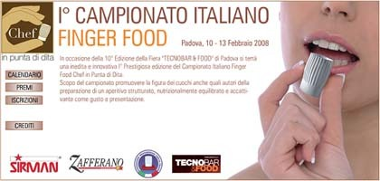 Primer campeonato Italiano Finger Food