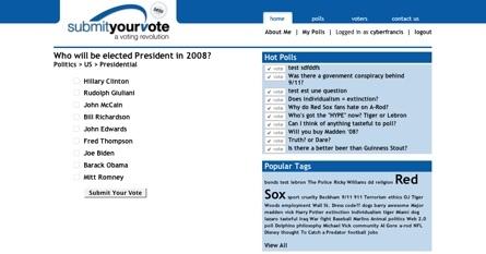 SubmitYourVote, otro servicio de encuestas online