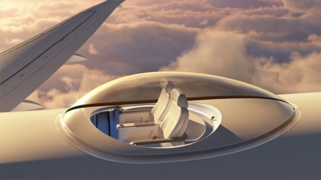 SkyDeck nos propone volar en lo más alto del avión, con unas vistas de 360 grados