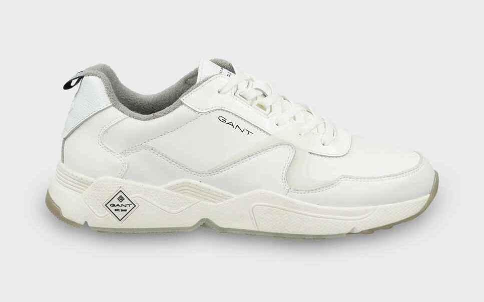 Zapatillas de piel de hombre Gant color blanco
