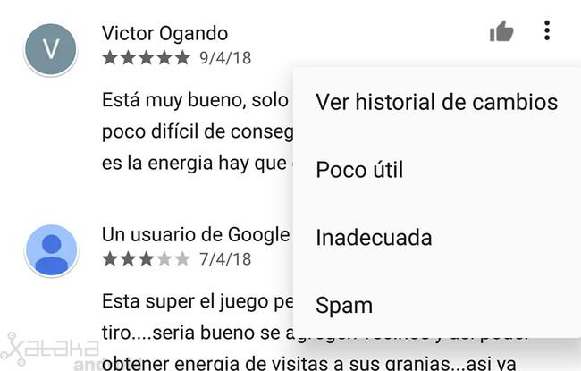 Google Play: cómo saber si una reseña ha sido editada y ver su historial de cambios