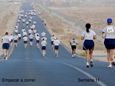 Entrenamiento para empezar a correr: semana 11
