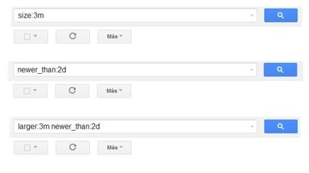 Gmail implementa nuevos operadores de búsqueda, en especial para el tamaño y la fecha