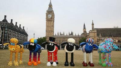 100 ovejas de colores invadirán Londres