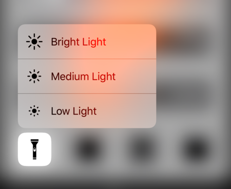 Linterna 3d touch