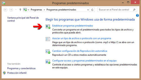 Establecer programas predeterminados en Windows 8