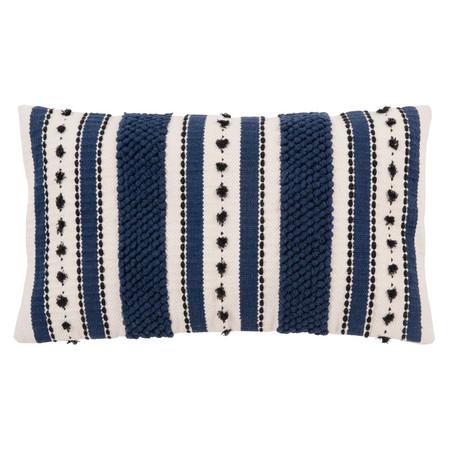 Funda De Cojin De Algodon Color Crudo Y Azul Con Motivos Decorativos 30x50 1000 0 3 205700 1