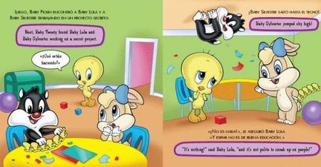 Libros bilingües de los Baby Looney Toones